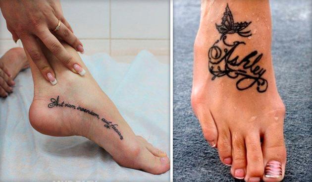 Тату надпись на ноге весь мир у моих ног