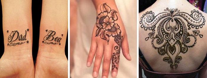 Красивые татуировки шариковой ручкой для девушек