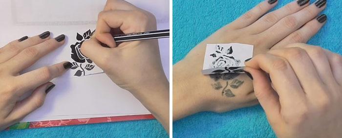 Как сделать маленькую татуировку в домашних условиях