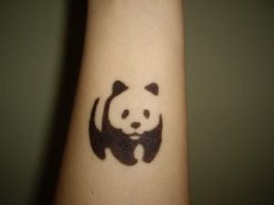 панда на руке